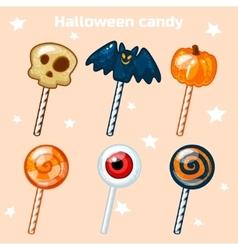 Halloween lollipops candy vector image vector image