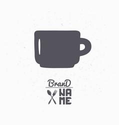 hand drawn silhouette of mug vector image vector image