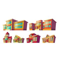 set of cartoon cartoon of vector image vector image