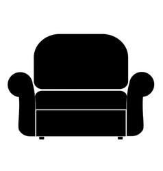 armchair the black color icon vector image vector image