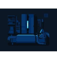 Bedroom mystic flat design vector image vector image