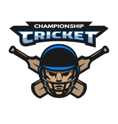 Cricket player and bats vector image vector image