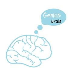 Genius brain vector image