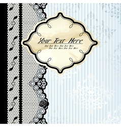silver background with lace vector image vector image