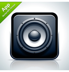 Speaker musical app icon vector image vector image