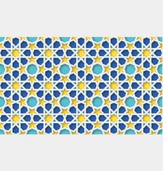 3d arabic background islamic geometric pattern vector