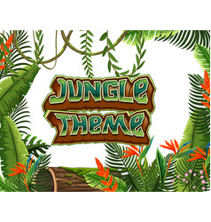 A jungle theme template vector