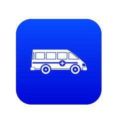 ambulance emergency van icon digital blue vector image