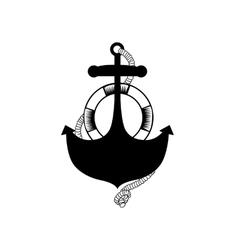 Anchor stencil concept vector