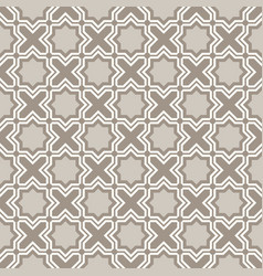 Arabic geometry tangled moroccan pattern vector