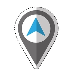 Arrow location isolated icon vector