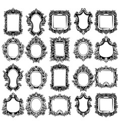 Baroque mirror frames great set collection vector