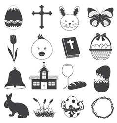 Basic Easter Icons Set vector