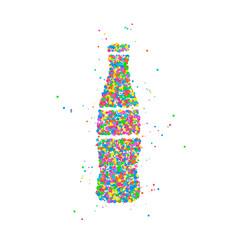Bottle abstract soda vector