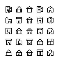 Building icons 5 vector