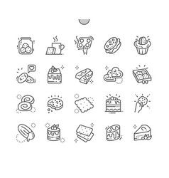 cakes and cookies well-crafted pixel perfect vector image