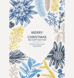 Christmas greeting card or invitation design in vector