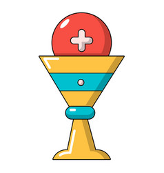 Church goblet glyph icon cartoon style vector