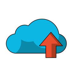 cloud computing upload symbol vector image