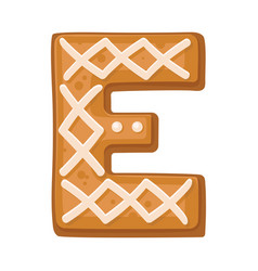 Cookies in shape letter e vector