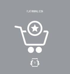 customer rating - shopping icon vector image