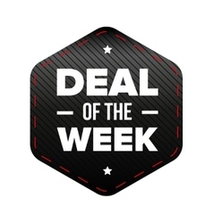 Deal of the week vector