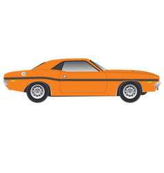 Dodge challenger1970 side view vector