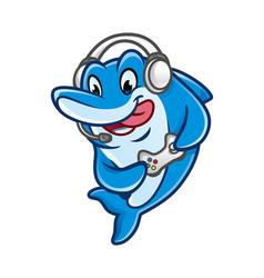 Dolfin games mascot design vector