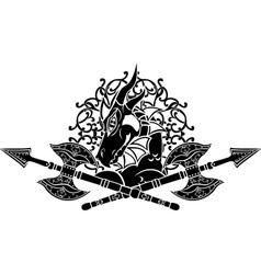 dragon axes vector image