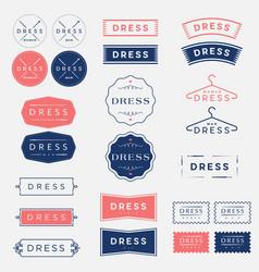 Dress studio tailor logo vector