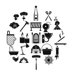 dry icons set simple style vector image