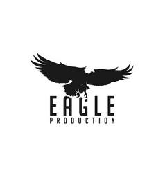 eagle bird negative space logo icon template vector image
