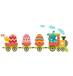Easter train vector image vector image