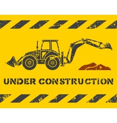 Excavator and dirt vector