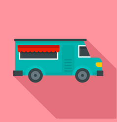 fast food truck icon flat style vector image