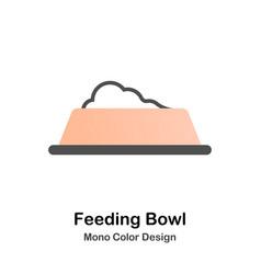 feeding bowl mono color icon vector image