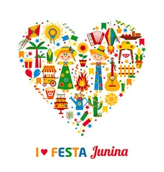 Festa Junina village festival in Latin America vector