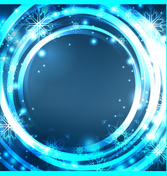 festive blue postcard with glowing sparkles and vector image