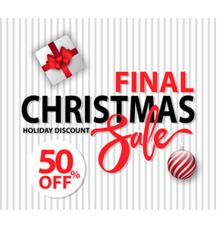 final christmas sale and holiday discount vector image