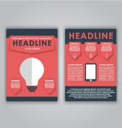 Flyer design for advertising vector