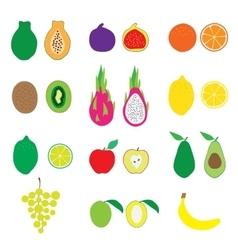 Fruits Big Set Flat Organic vector