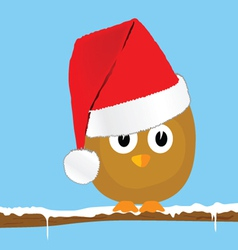 funny animal with christmas hat art vector image