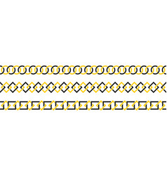 geometric border set line art vector image