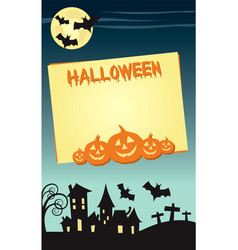 halloween invitation poster or card design vector image