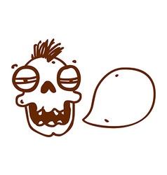 Hand Drawn Talking Cartoon vector image