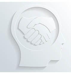 handshake in the head vector image