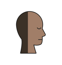 Human head profile male character shadow vector