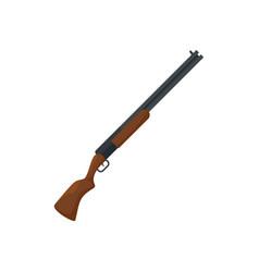 Hunter shotgun icon flat style vector
