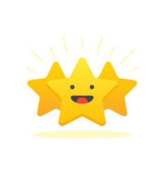 Iconic of satisfaction level customer review give vector