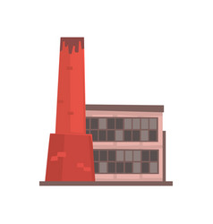industrial manufactury building factory or plant vector image
